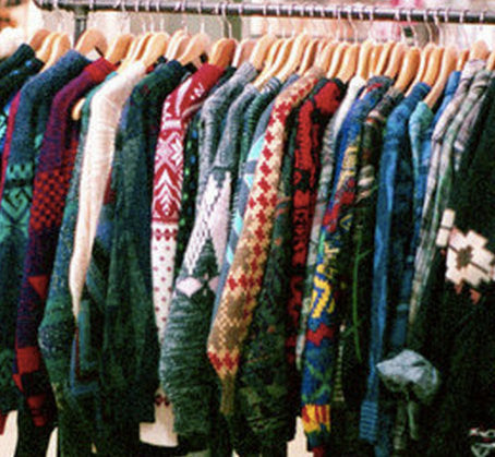 Vintage Style Mystery Sweaters - Over-sized Mystery Sweaters: All Hipster Colors - All Grunge Patterns.
