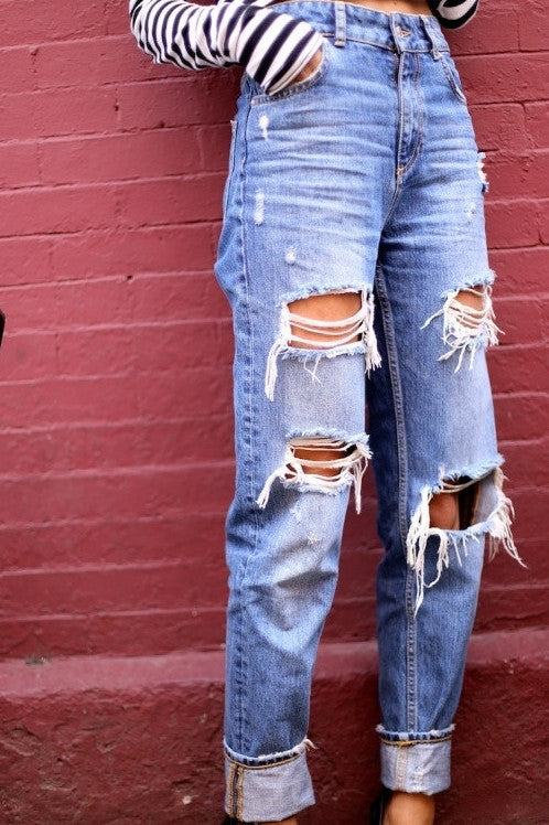 Mystery Modern Distressed Jeans!! Super Cool:All Sizes & Washes!