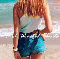 High Waisted Shorts, Mystery Distressed Cutoffs, All Sizes & Washes