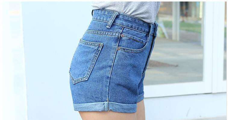 Super Cute High Waisted Trendy Denim Shorts!