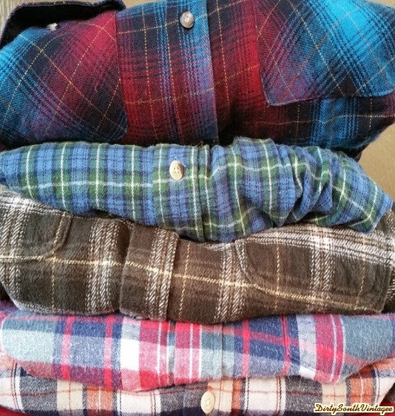 Mystery Vintage Oversized Flannel Shirts, Mystery Flannels, All Colors & Sizes!!