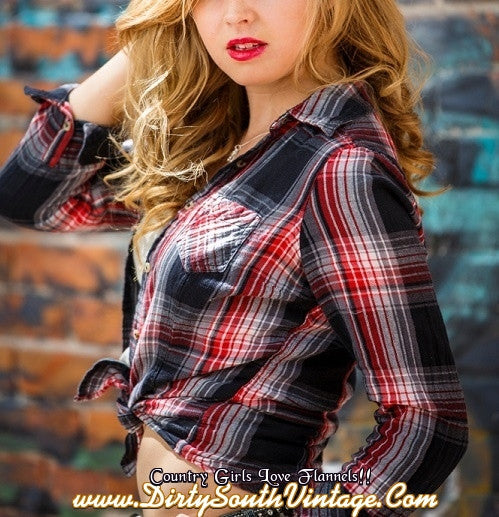 Country Girls Mystery Vintage Flannel Shirts - Pick Your Size  Color -2905
