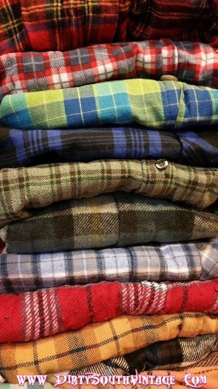 Flannel Shirts, Unisex Mystery Flannels - All Colors & Sizes
