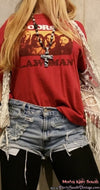 Mystery Summer 2 Piece Outfit - Band Tee & High Waisted Distressed Shorts! All Sizes!!