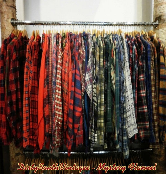 Unisex Vintage Mystery Flannels Hipster Shirts All Styles & Sizes In Stock! Woman or Man!