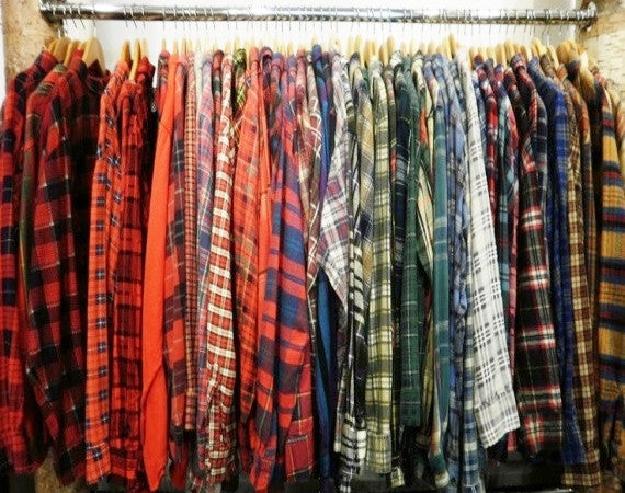 SALE- Hipster Mystery Flannel Shirts - All Colors & Sizes