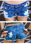 Low Waisted Denim Cut Off Distressed Sexy Shorts For Summer Rocking! ALL SIZES - FREE SHIP!