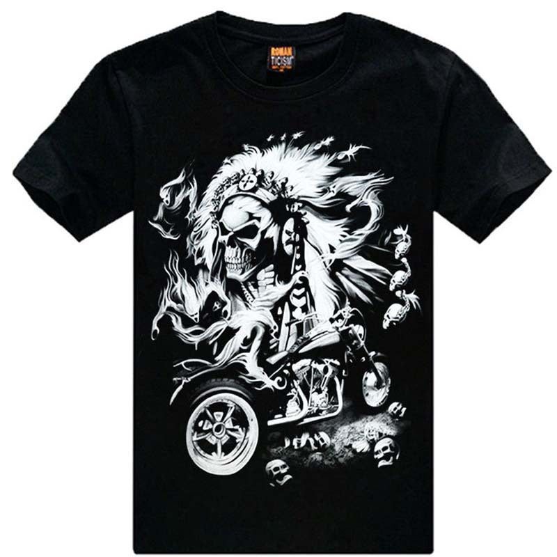 Mystery Skull Biker Style Vintage Inspired Tee Shirts , All Styles & Sizes.
