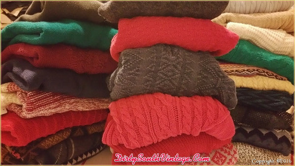 Vintage Mystery Hipster Boho Sweaters - Over-sized Sweaters: All Hipster Colors - All Grunge Patterns.