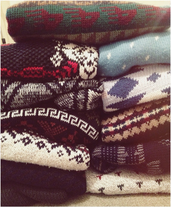 Vintage Old School Mystery Sweaters! Hipster 80's & 90's Look!! Super Cool!! All Styles & Sizes!!