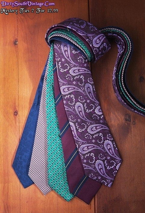 Mystery Ties: 2 For $12.99/ Hipster Cool Grunge Ties.