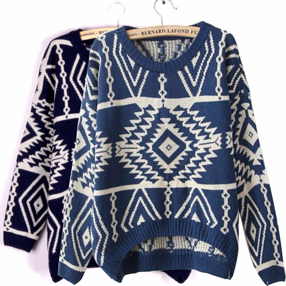 999b9873b1b45 Mystery Tribal Aztec Style Sweaters For Fall   Winter