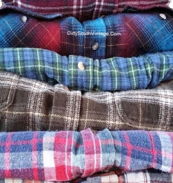 mystery vintage flannel shirts