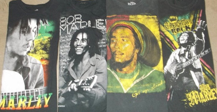 Mystery Vintage Bob Marley Concert T-Shirt's Shirts:All Sizes & Styles