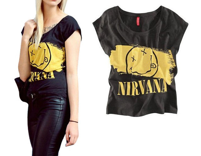 Festival Band Graphic Tee Sleeveless,Sexy & Rocker! All Sizes - (Nirvana)