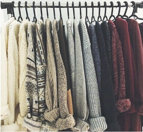Cozy Warm Hipster Mystery BoHo Sweaters - Over-sized Sweaters: All Hipster Colors - All Grunge Patterns.