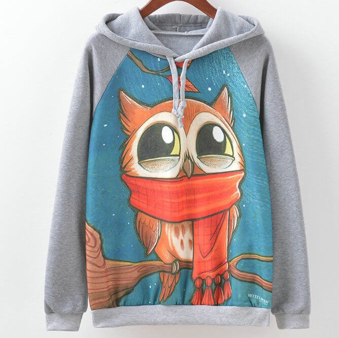 Owl Hipster Sweatshirts, Pullovers, All Sizes