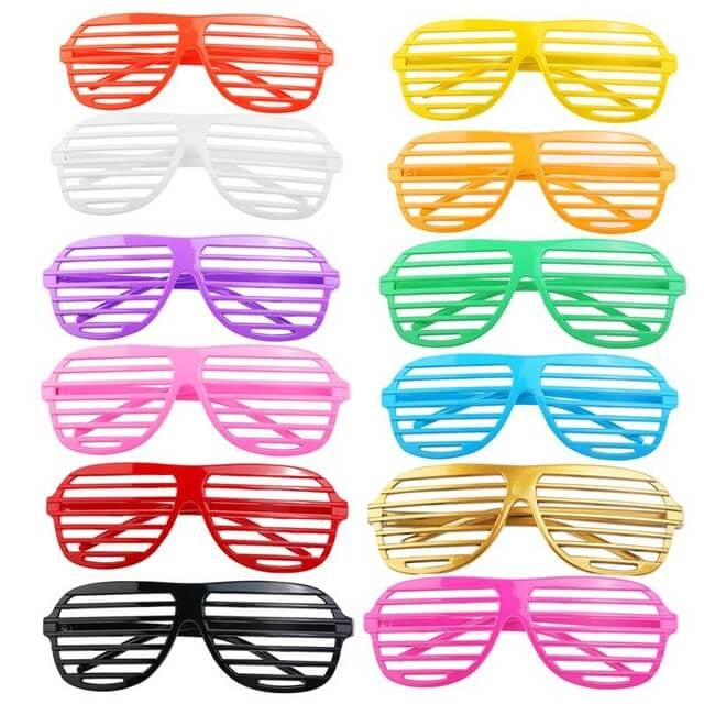 Shake The Party, Shutter Shades, all colors.