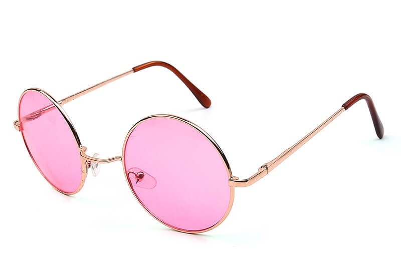 Round Cool Hipster Sunglasses, All Colors