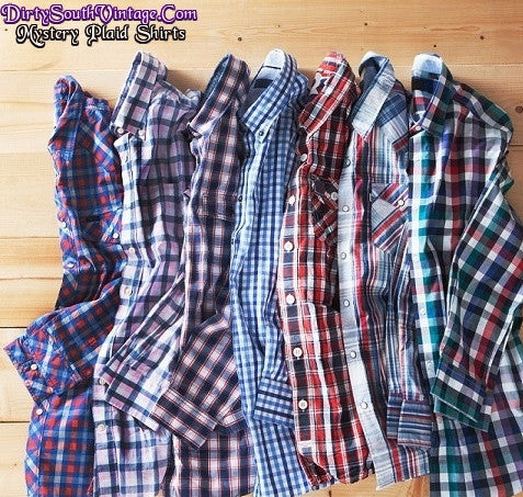Mystery Unisex Plaid Shirts, All Sizes & Colors