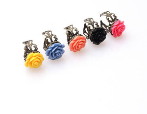 Vintage Inspired Style Black Rose Gothic Size Adjustable Ladies, More Colors