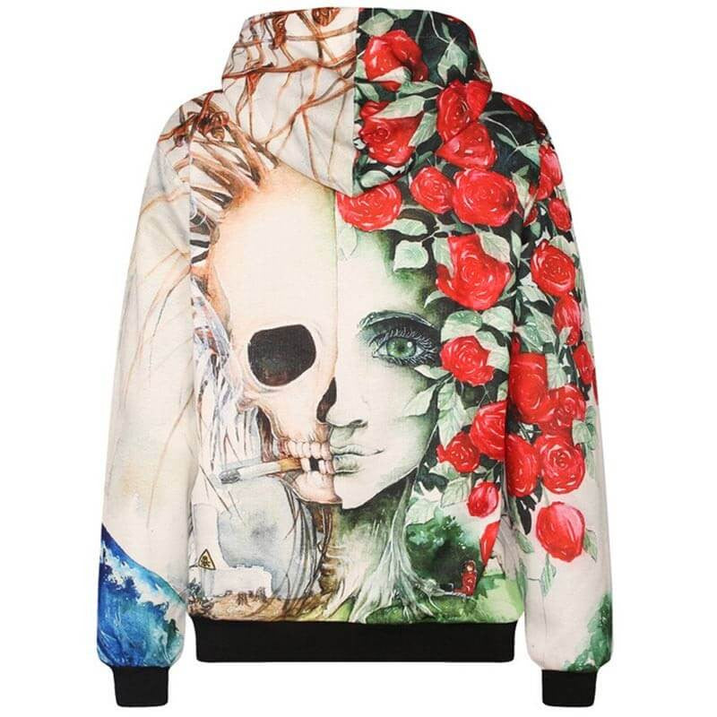 SALE - Smoking Skull Hoodie, Super Cool, All Sizes
