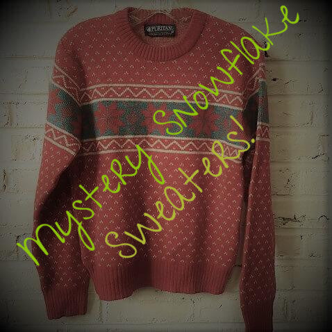 Ugly/Cute Winter Snowflake Mystery Sweaters, All Sizes
