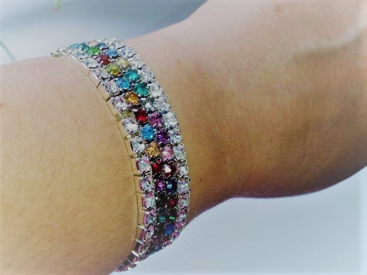 Soft Pretty & Cute, Multi Stone Bracelet.