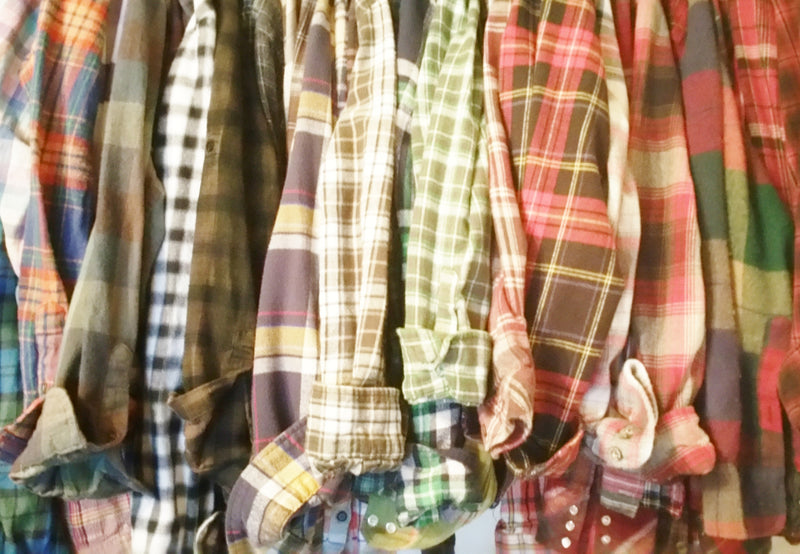 Flannel Shirts - Mystery Flannels - OverSized Unisex Shirts - All Colors & Sizes