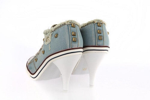 Super Cute Shoes Denim Canvas Pumps, All Sizes