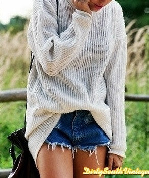 Mystery Hipster Outfit - High Waisted Shorts & Sweater Combo - All Sizes.