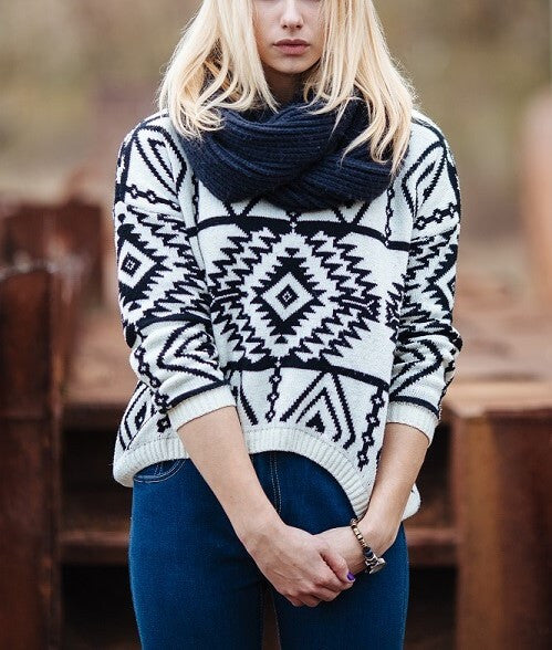 Mystery Tribal Aztec Style Sweaters For Fall & Winter, All Colors