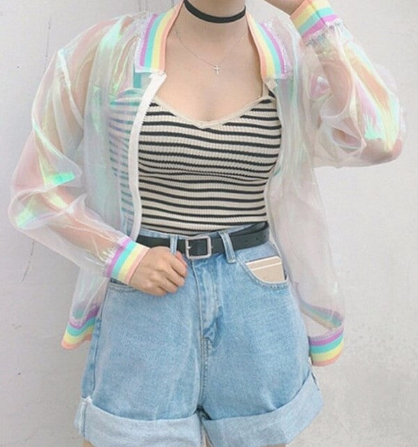 Transparent Jacket, Super Funky Super Cool
