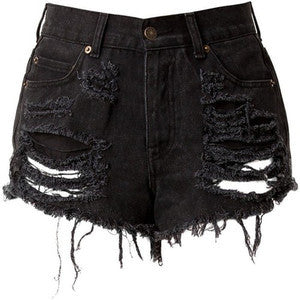 Mystery DISTRESSED Vintage Shorts / Sexy Denim Shorts For Summer: All Sizes
