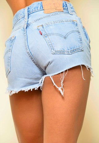Mystery DISTRESSED High Waisted Shorts / Sexy Denim Spring & Summer: All Sizes