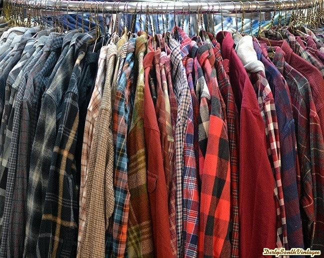 Vintage Mystery Unisex Flannel Shirts, 80's 90's & Today Flannels, All Sizes