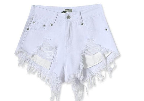 White High Waisted Shorts, Many Sizes