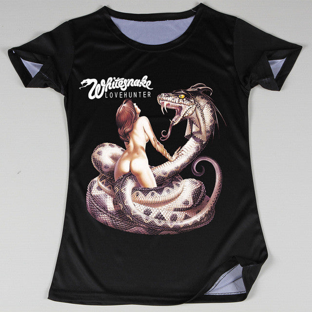 whitesnake rock band tee shirts