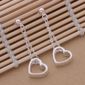 925 STERLING SILVER HEART EARRINGS
