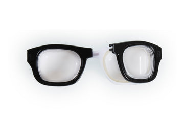 Retro Glasses Contact Lens Case Black