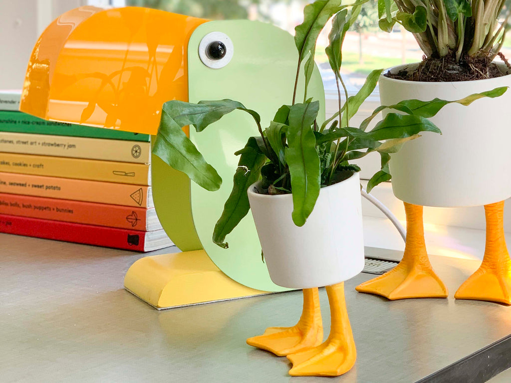 Duck Feet Planter Small Yellow