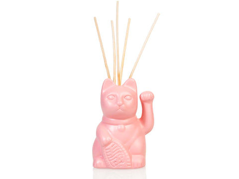 Lucky Cat Oil Diffuser Pink (including 40ml oil & 5 sticks)