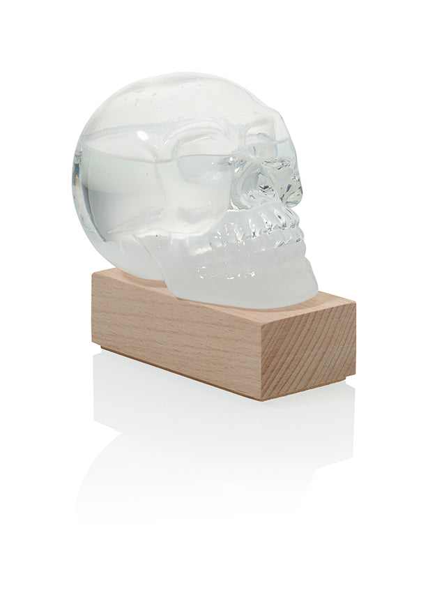 Skull Storm Glass Weather Predictor