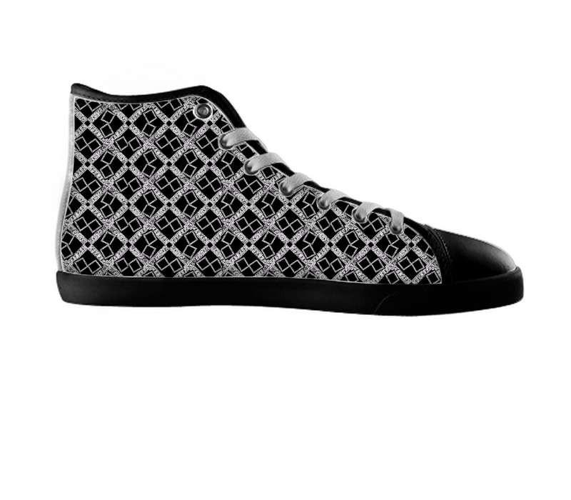 Silver Black Logissimo lightweight high top , Shoes - abbyessie, SpreadShoes  - 2