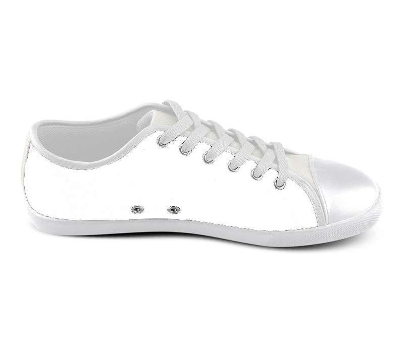 White Custom Low Top Shoes , hideme - spreadlife, SpreadShoes