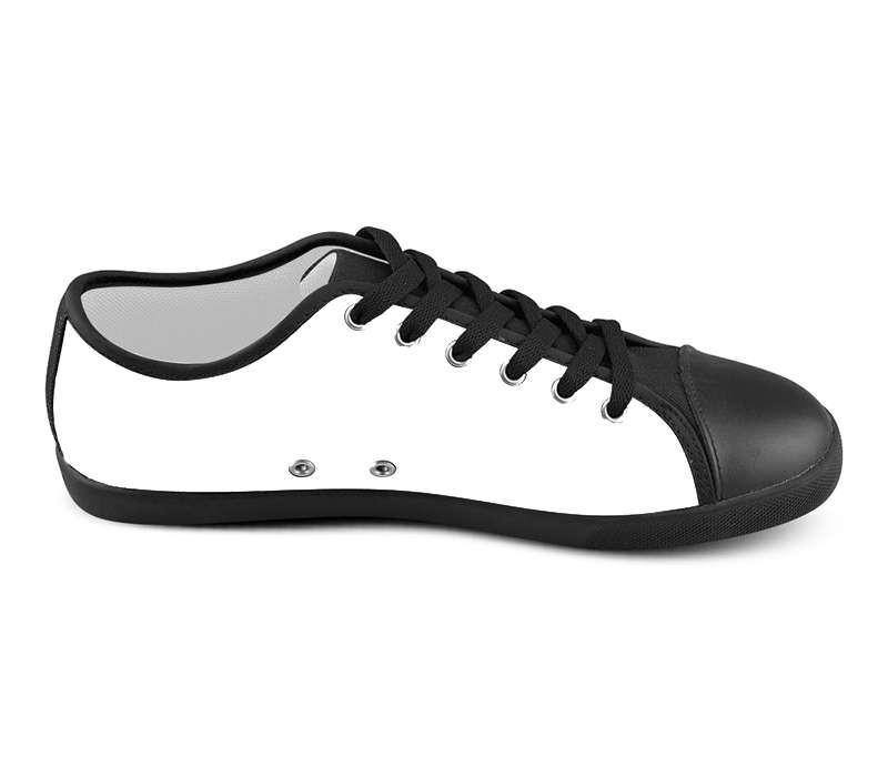 White Custom Low Top Shoes , hideme - spreadlife, SpreadShoes  - 2