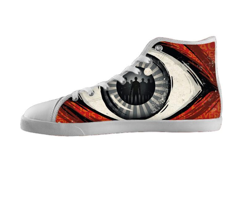 1984 Big Brother Is Watching Womens / 5 / White, Shoes - Nifty-Shoes, SpreadShoes  - 1