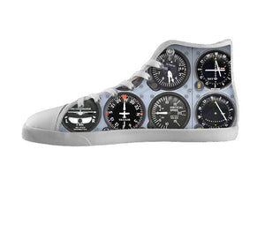 Airplane Gauge Shoes Womens / 5 / White, Shoes - BayShoes, SpreadShoes  - 1