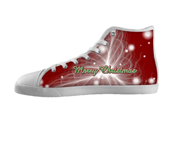 Merry Christmas Silk Filaments Puff Square Shoes