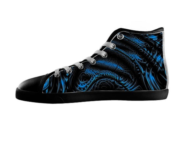 Contours Of Form Blue Black Shoes